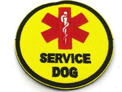 Service Dog Medic Star of Life Embroidered Airsoft Cosplay Patch