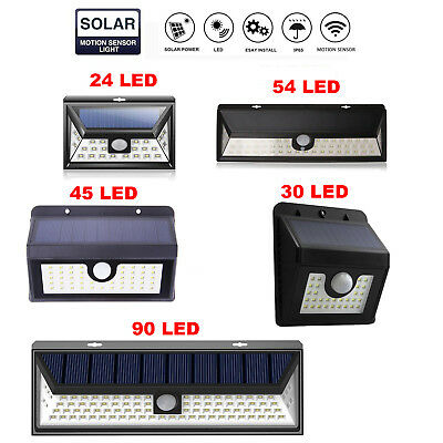 Zolmax Outdoor LED Solar Powered Light Motion Sensor Security Wall Lights