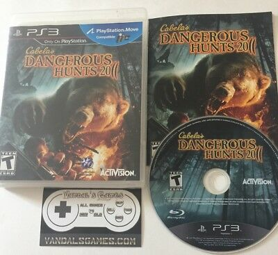 Cabela's Dangerous Hunts 2011 (Sony PlayStation 3 PS3) Complete Cib