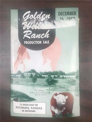 Golden Willow Ranch Production Sale Polled Hereford Catalog December 16 1957