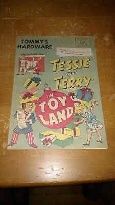VTG 1951 Tessie and Terry, Tommy's Hardware. Plymouth, Mich Christmas Catalog