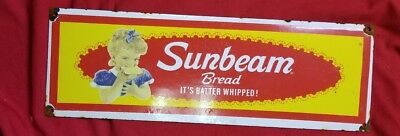Sunbeam bread porcelain sign.