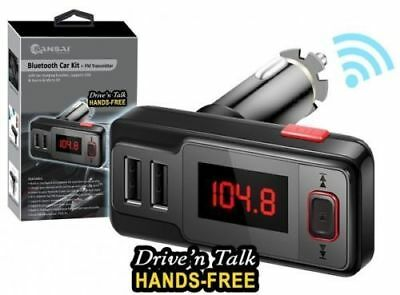 BLUETOOTH FM TRANSMITTER HANDS FREE WITH SD/AUX Mp3 & USB CHARGER
