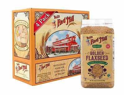 Bob's Red Mill Organic Gold Flaxseeds, 24 Ounce (Pack of 4)