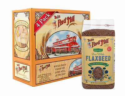 Bob's Red Mill Organic Brown Flaxseeds, 24 Ounce (Pack of 4)