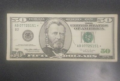 50 Dollar Series 1996 STAR NOTE Banknote Very lightly Circulated!!
