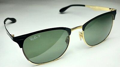 506aef3f60 RAY-BAN POLARIZED SUNGLASSES Clubmaster Rb3538 187 9A Black green ...
