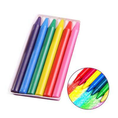 6 Colours/Set No-Toxic Wax Crayons Children Kids Colorful Painting Stick Present