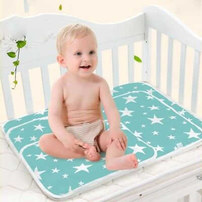 Baby Foldable Changing Mat Cover Diaper Nappy Pad Waterproof Reusable Cushion AU