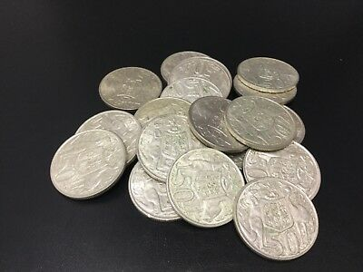 1966 Silver Round 50 cent bulk lot of 20 coins ( High Silver content)