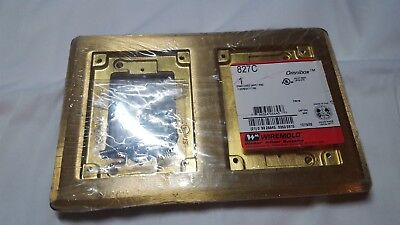 Wiremold Brass Cover 2-Gang Box Cover wood floor 827B
