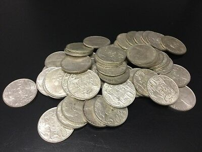 1966 Silver round 50 cent bulk lot of 50 coins ( High Silver content)
