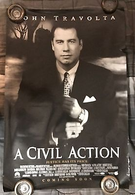 A Civil Action Advance 1 Sheet Double Sided Original Movie Poster 27x40