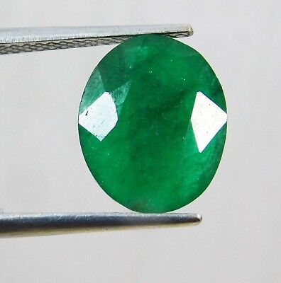 Natural 3.70 Ct Oval Cut Colombian Loose Emerald Gemstone. 11101 ERT