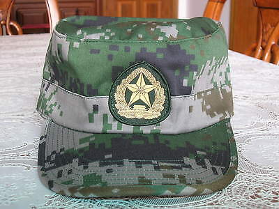 07's series China PLA Summer Woodland Digital Camo Combat and Training Cap,Hat