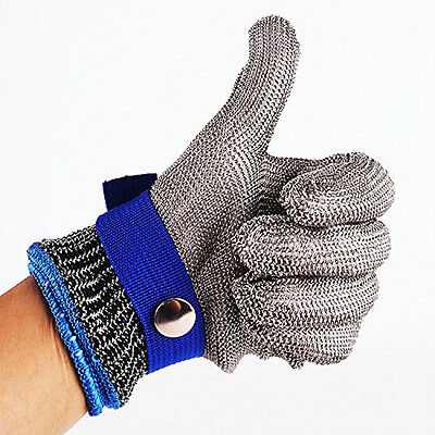 1*Stainless Steel Metal Mesh Butcher Glove M/XL Safety Cut Proof Stab Resistant