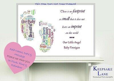 Memorial Keepsake Card Bereavement Miscarriage Stillborn Baby Loss Memory Print