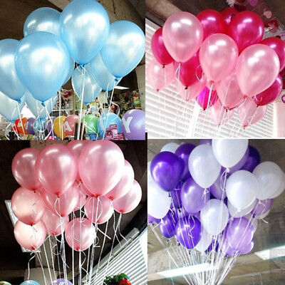20-60pcs Birthday Wedding Baby Shower Party Pearl Latex Balloons 10inch baloons