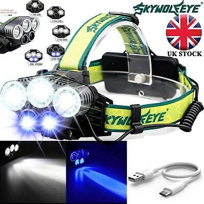 Rechargeable 90000LM T6 LED Headlamp Headlight Light Flashlight Head Torch Lamp