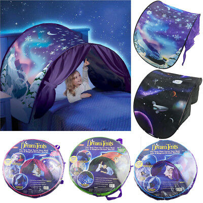 Dream Tents Pop Up Tent Winter Wonderland Twin Size Bed Toys Kids As Seen On Tv~