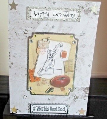 Handmade Dad Birthday Card 200 Picclick Uk