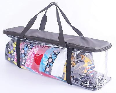 Baseball Cap Hat Storage Holder Bag Zipper Shut Travel Organizer Rack Case  Clear