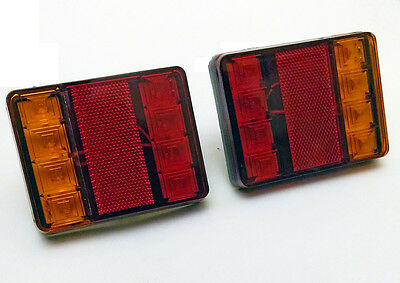 2x 12v 8 Led Feux Mini Lampes Arriere Camion Remorque Fourgon
