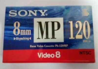 Sony 8mm Video Cassette P6-120MP. Video 8. New and sealed. NTSC.