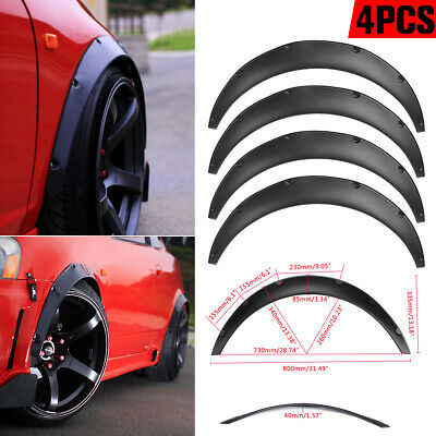 4Pc Universal JDM Fender Flare Widened Body Wheel Arches 2 inch 50mm Car Fitting