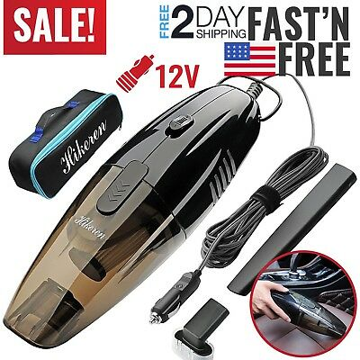 Car Vacuum Cleaner 12V Auto Mini Handheld Wet Dry Dirt Small Portable Vac