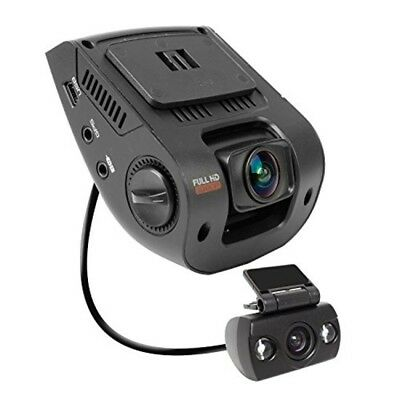 """Rexing V1P 2.4"""" LCD FHD 1080p 170 Degree Wide Angle Dual Channel Dashboard"""