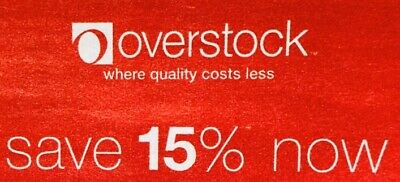 ➡️ OVERSTOCK—15% OFF Entire Order—Overstock.com—SENT FAST! Exp. 3/31/20