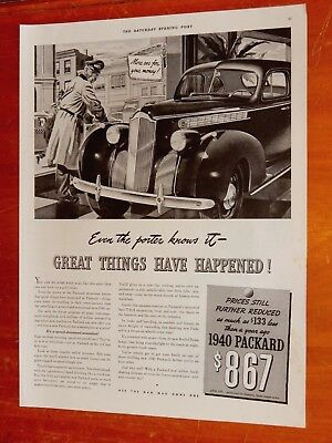 1940 Packard Sedan More Car For The Money Classic Ad / Vintage American 1940S