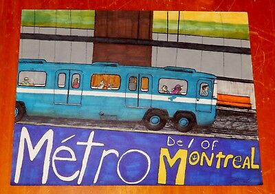 MONTREAL STCUM METRO DRAWING DONE IN 1993 BY ELTON Mc FALL / SUBWAY ART