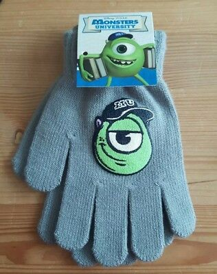 Disney Monsters University boys gloves grey one size to fit age 4-7 years Inc