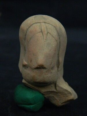 Ancient Teracotta Mother Goddess Head Indus Valley 2000 BC  #TR7445