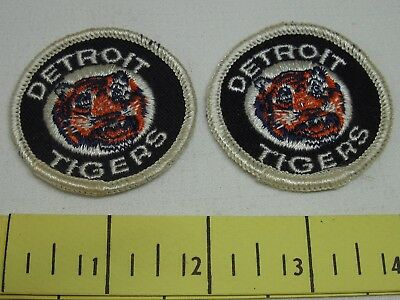 Detroit Tigers Vintage Patches 1970's Two Inch Cloth New Old Stock Original