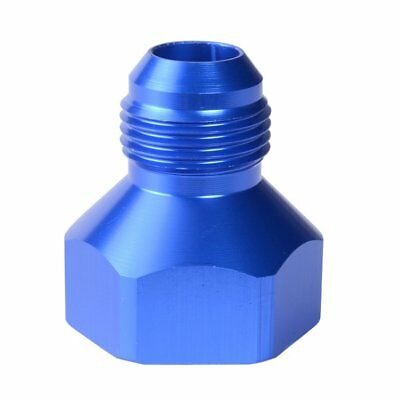 AN Flare Reducer -10 Female -8 Male Fitting Reducer Adapter 10AN to 8AN Blue