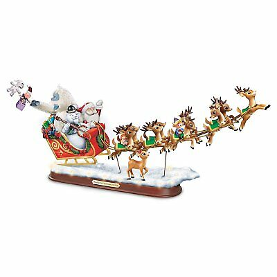 Rudolph's Christmas Journey Sculpture Lighted Musical Holiday Decoration