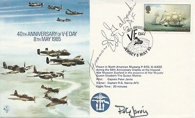"""RAF 40th Anniversary of VE Day  cover signed Francis S. """"Gabby"""" Gabreski"""