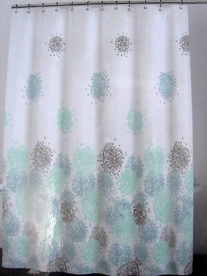 DKNY Brushstroke Floral Fabric Shower Curtain