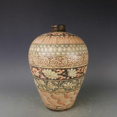 Ancient Antiques Chinese porcelain Coloured drawing Pulm vase