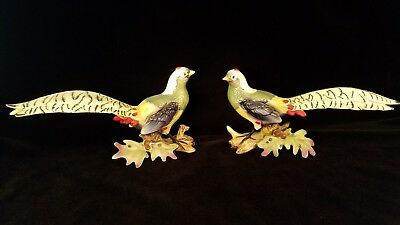 2 Arco Golden Pheasant Figurines made in JAPAN