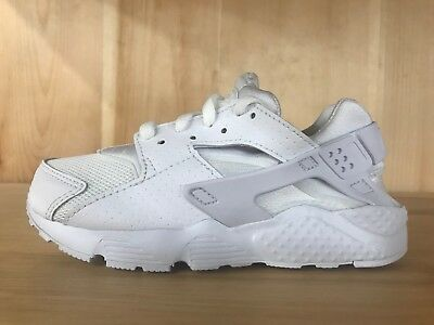 d6c81cd546 Nike Huarache Run White Pure Platinum Kids Preschool Ps Sz 11C - 3Y  704949-110