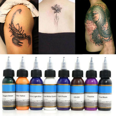 231D Pure Bright Tattoo Ink 1oz 30ml/Bottle Tattoo Pigment Kit 10 Colors Set