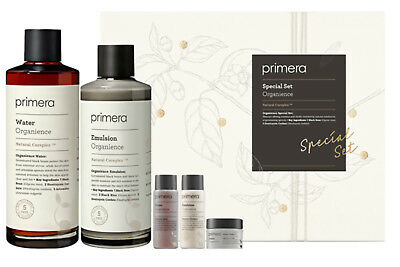 Primera Organience Special Facial Set Kit Face Emulsion Essences Water Pack of 5
