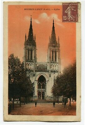 CPA - Carte Postale - France - Bourbon Lancy - Eglise -1930 ( CP5320 )