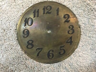 VIntage Clock Face Dial Brass Numbers about 10 3/8""