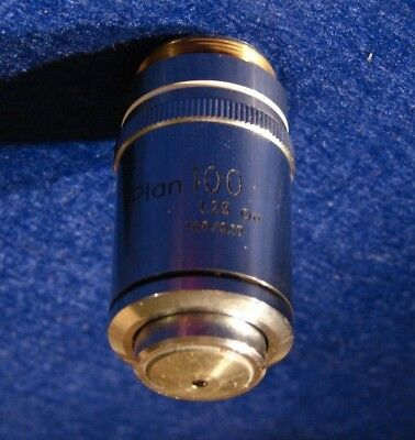 Nikon PLAN 100 Microscope Objective 100X 1.25 NA 160/0.17 Oil