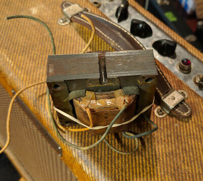 VINTAGE OUTPUT TRANSFORMER pulled from FENDER 1950s 5E3 Deluxe Guitar Amp!  Works